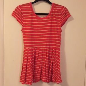 Free People Wrap Back Striped Knot Top
